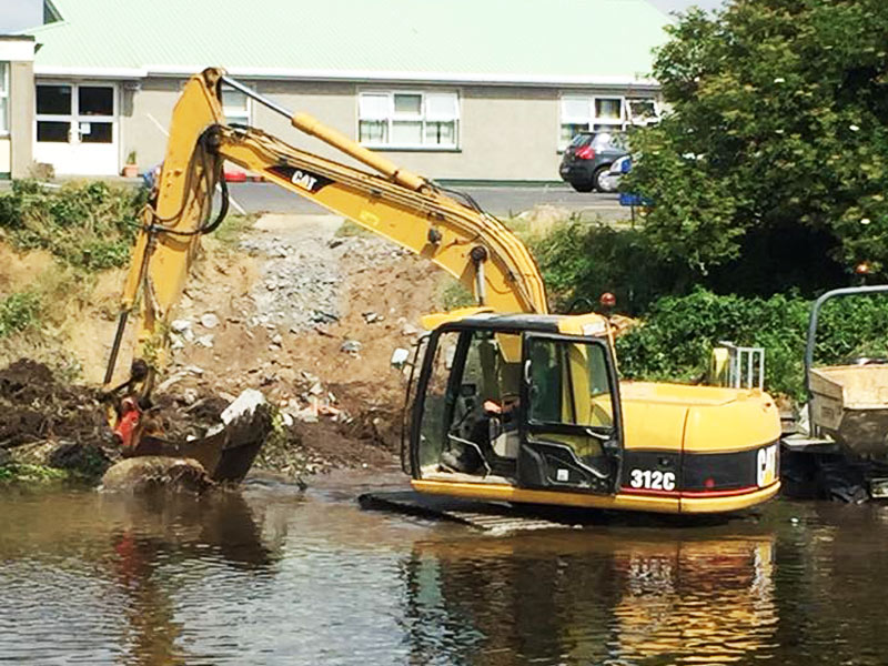 Water Project in the river Liffey, Newbridge